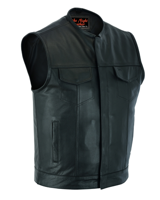 AM9193 Concealed Snap Closure, Without Collar & Hidden Zipper