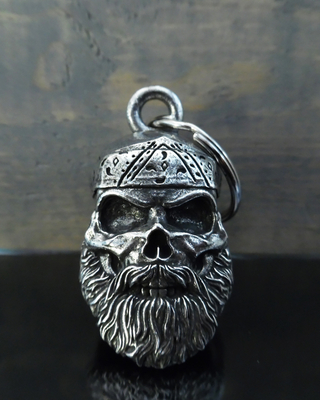 BB-96 Old School Biker Skull Bell