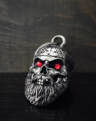 Image BB-97 Old School Biker Skull Diamond Bell