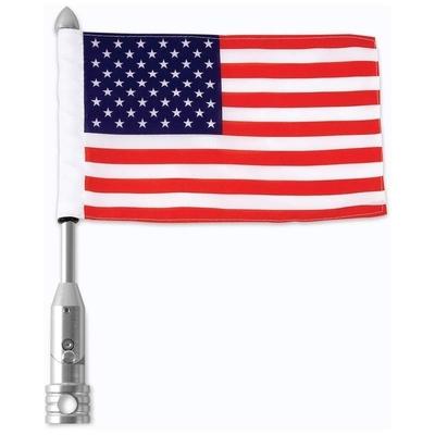 Image BKFLGPL18 MC 18IN Flagpole + USA Flag