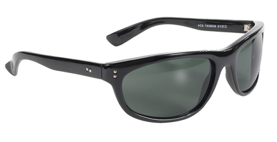 Image 81012 Dirty Harry MC Sunglass Wrap Blk/Dk Green Lens