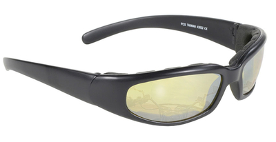 Image 43022 Rally Wrap Padded Blk Frame/Yellow Lens