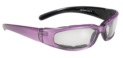 Image 43027 Rally Wrap Padded Blk Frame/Purple Pearl/Clear Lens