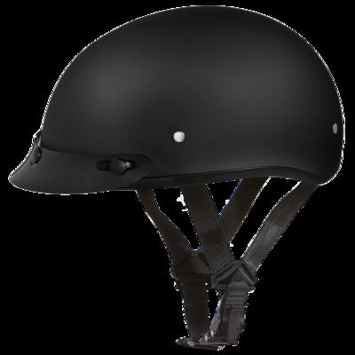 Image D1-B D.O.T. DAYTONA SKULL CAP - DULL BLACK