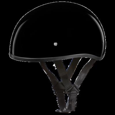 Image D1-ANS D.O.T. DAYTONA SKULL CAP W/O VISOR - HI-GLOSS BLACK