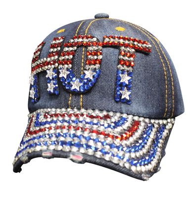 Image SBLAMH Denim Bling American Hat