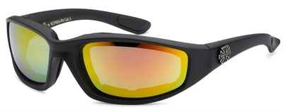 8CP924-RV Choppers Foam Padded Sunglasses - Assorted - Sold by the Dozen