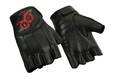 Image DS36 Women's Embroidered Fingerless Glove