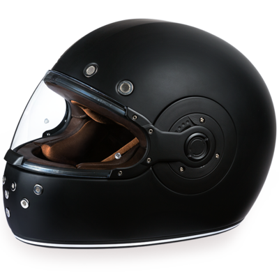 Image R1-B D.O.T. FULL FACE: DAYTONA RETRO: DULL BLACK