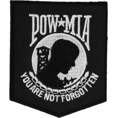 Image P2018 POW MIA Patch Black White