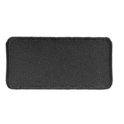 P4035 Black 4 Inch Rectangular Blank Patch
