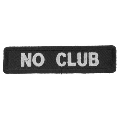 P2538 No Club Patch for Bikers