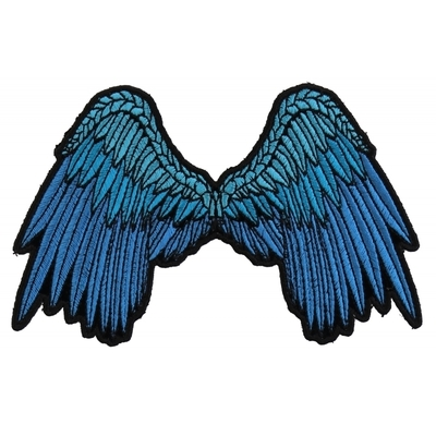 Image P3200 Small Beautiful Angel Wings Blue Patch
