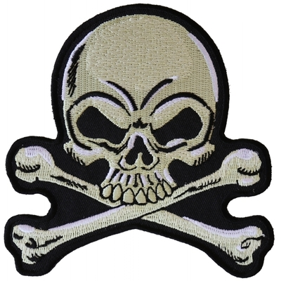P6107 Skull and Crossbones medium Patch