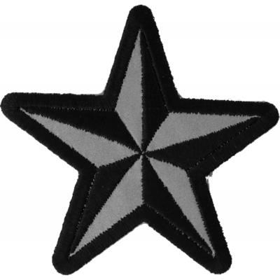 Image P1479REF Reflective Nautical Star Novelty Iron on Patch