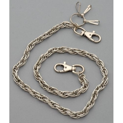 Image WC-1113 Chrome Wallet Chain with multiple links, 30 inches long