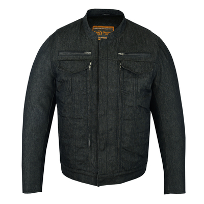 Image DM915 Men's Rough Rub-Off Raw Finish Denim Jacket