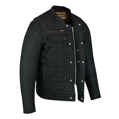 DM915 Men's Rough Rub-Off Raw Finish Denim Jacket