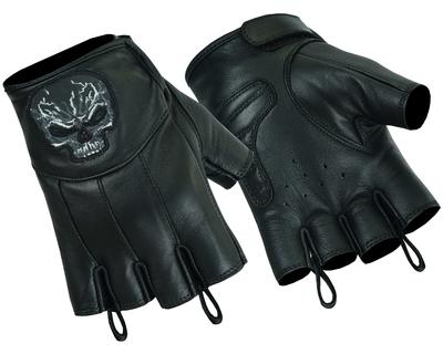 DS98 Reflective Skull Fingerless Glove