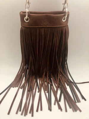 Image CHIC931-DKBR The Chic Bag crossbody fringe handbag