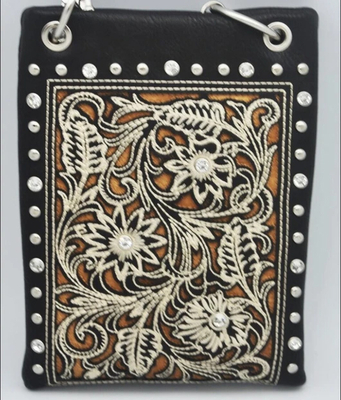 Image CHIC802-BLK Western boot pattern style with Floral design