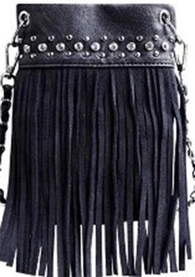 Image CHIC415-GREY crossbody handbag - Top Bling FRINGE