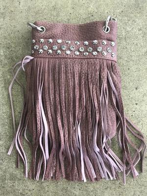Image CHIC715-BLUSH crossbody handbag - Fringe with crystals