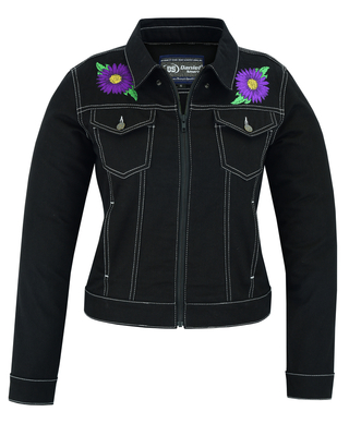 Image DM949 Women's Daisy Black Denim Jacket