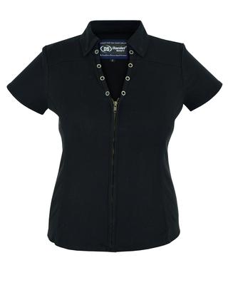 Image DM955 Women's Zip Front Shirt