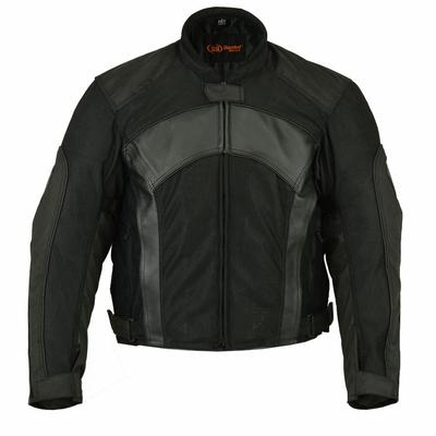 Image DS750BK Men's Mesh/ Leather Padded Jacket