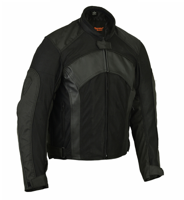 DS750BK Men's Mesh/ Leather Padded Jacket