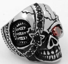 Image R163 Stainless Steel Pirate Rider Biker Ring