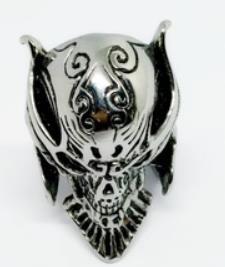 R175 Stainless Steel Lion Mask Biker Ring