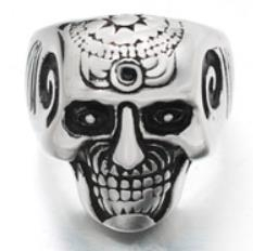 Image R194 Stainless Steel Brain Saw Biker Ring