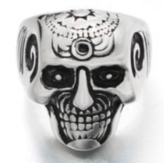 R194 Stainless Steel Brain Saw Biker Ring