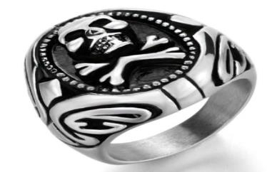 Image R195 Stainless Steel Poison Ivy Biker Ring