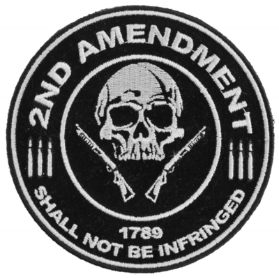P3565 2nd Amendment Shall Not Be Infringed Skull 1789 Small Patch