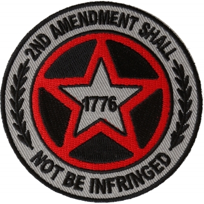 P6570 2nd Amendment Shall Not be Infringed Star Patch