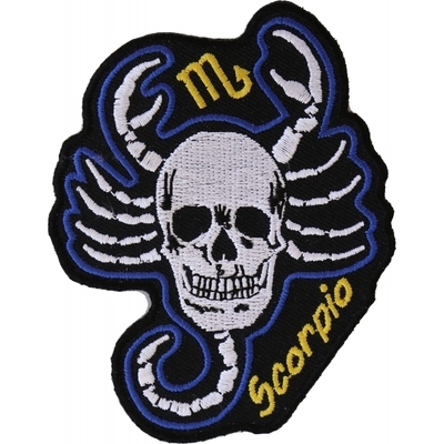 Image P5471 Scorpio Skull Zodiac Sign Patch