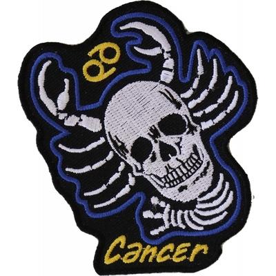 P5478 Cancer Skull Zodiac Sign Patch