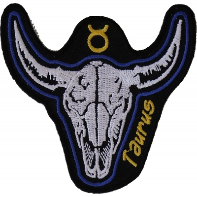 Image P5470 Taurus Skull Zodiac Sign Patch