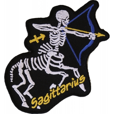 P5472 Sagittarius Skull Zodiac Sign Patch