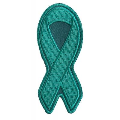 P3779 Teal PTSD Awareness Ribbon Patch