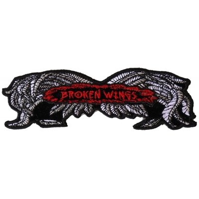 Image P2951 Broken Wings Small Biker Patch
