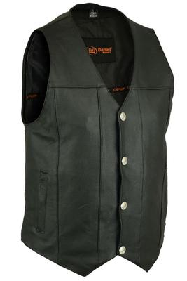 DS141 Men's Single Back Panel Concealed Carry Vest (Buffalo Nickel Head Snaps)