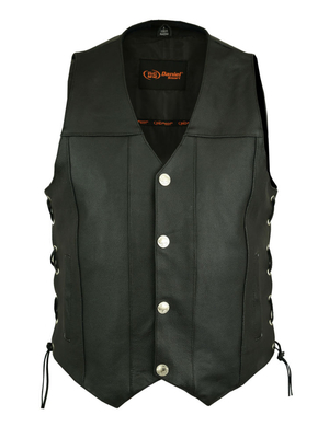 Image DS142 Men's Single Back Panel Concealed Carry Vest (Buffalo Nickel Head Snaps)