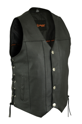 DS142 Men's Single Back Panel Concealed Carry Vest (Buffalo Nickel Head Snaps)