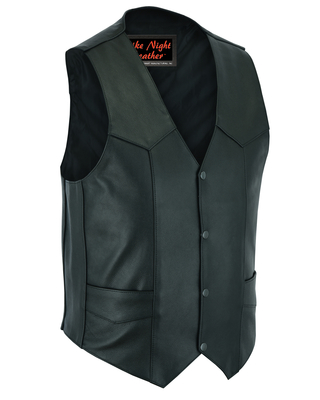 Image DS104 Men's Plain Side Economy Vest