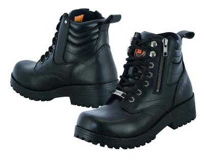 Image DS9768 Women's Side Zipper Plain Toe Boots