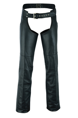 Image DS447TALL Tall Classic Leather Chaps with Jeans Pockets